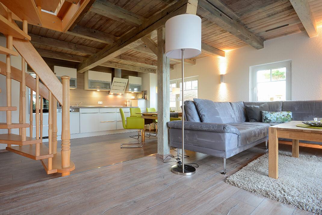 Meerflair - Wohn-Küchen-Bereich