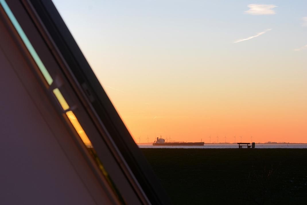 Meerblick - Sonnenuntergang Ausblick